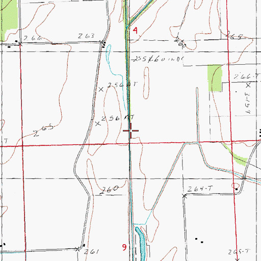 Topographic Map of Main Ditch Number 10, MO