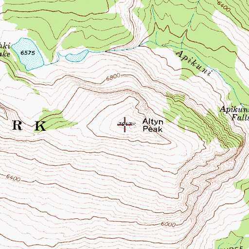 Topographic Map of Altyn Peak, MT