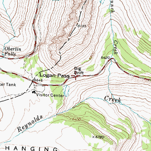 Topographic Map of Big Drift, MT