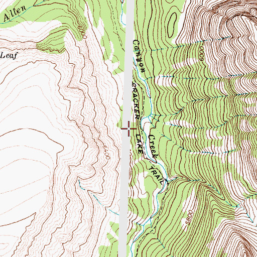 Topographic Map of Cracker Lake Trail, MT