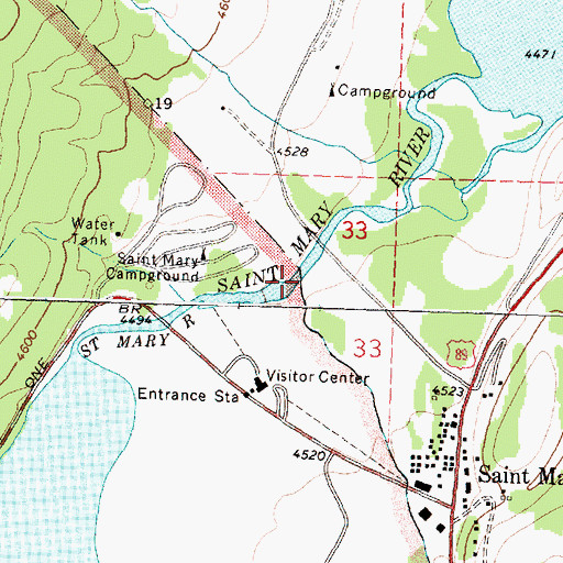 Topographic Map of Divide Creek, MT