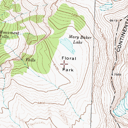 Topographic Map of Floral Park, MT