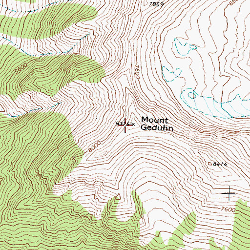 Topographic Map of Mount Geduhn, MT