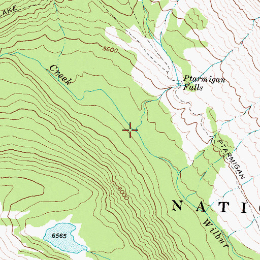Topographic Map of Iceberg Creek, MT