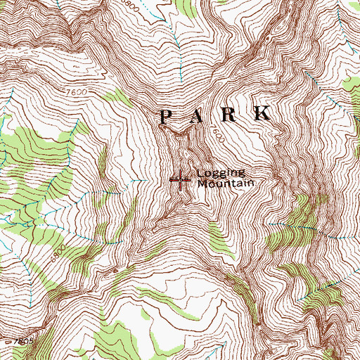 Topographic Map of Logging Mountain, MT