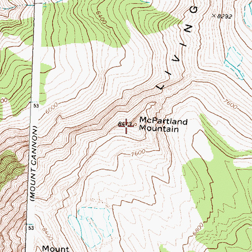 Topographic Map of McPartland Mountain, MT
