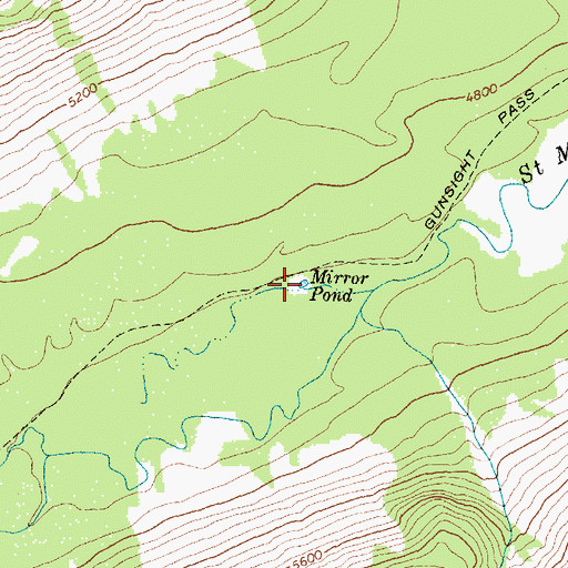 Topographic Map of Mirror Pond, MT