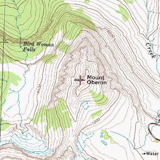Topographic Map of Mount Oberlin, MT