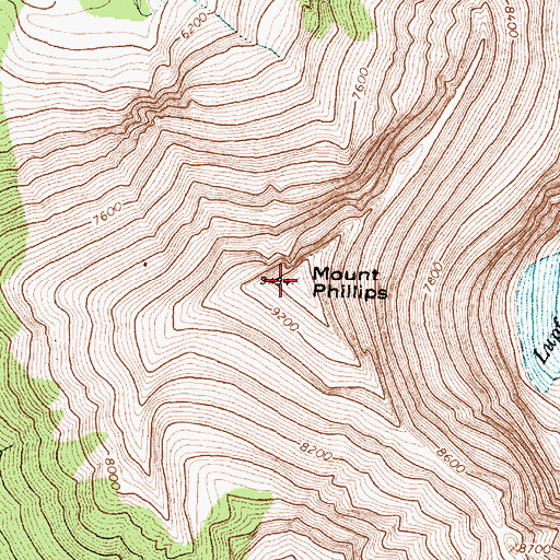 Topographic Map of Mount Phillips, MT