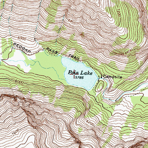 Topographic Map of Poia Lake, MT