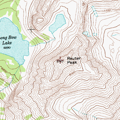 Topographic Map of Reuter Peak, MT