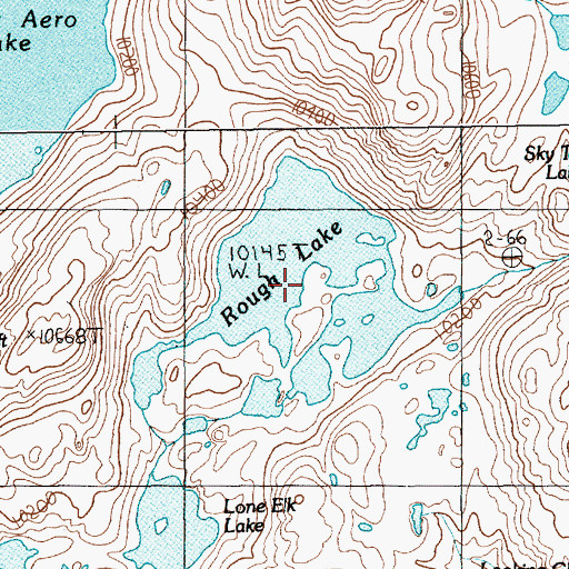 Topographic Map of Rough Lake, MT