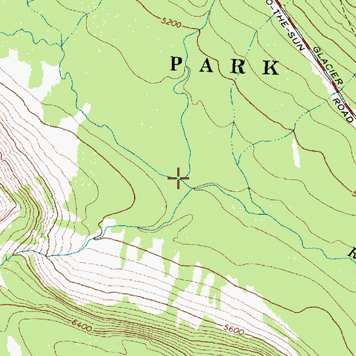 Topographic Map of Siyeh Creek, MT