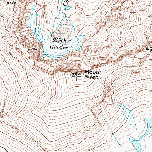 Topographic Map of Mount Siyeh, MT