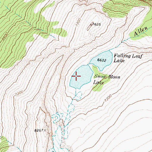 Topographic Map of Snow Moon Lake, MT