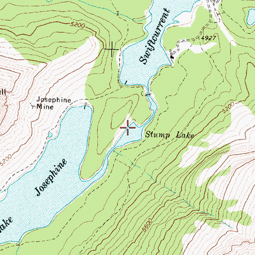 Topographic Map of Stump Lake, MT
