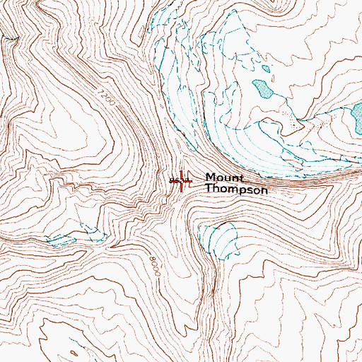 Topographic Map of Mount Thompson, MT