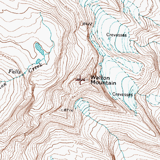 Topographic Map of Walton Mountain, MT