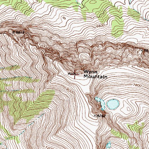 Topographic Map of Wynn Mountain, MT