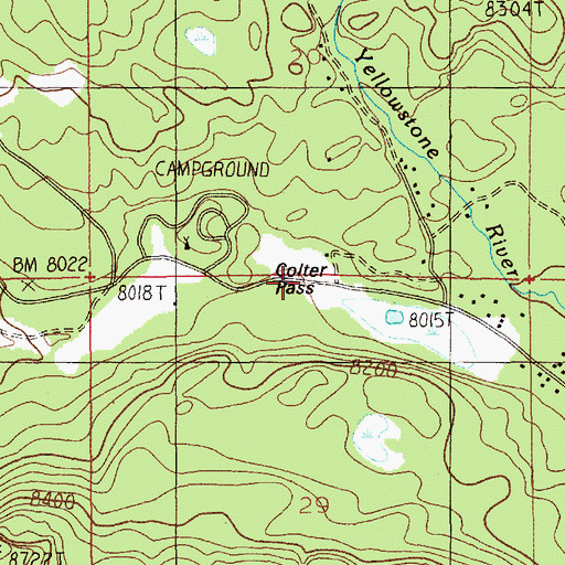 Topographic Map of Colter Pass, MT