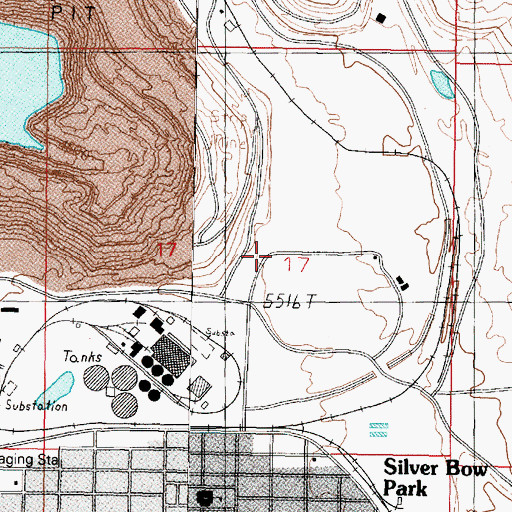 Topographic Map of East Butte, MT