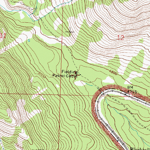 Topographic Map of Fielding Patrol Cabin, MT