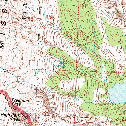 Topographic Map of Giant Spring, MT