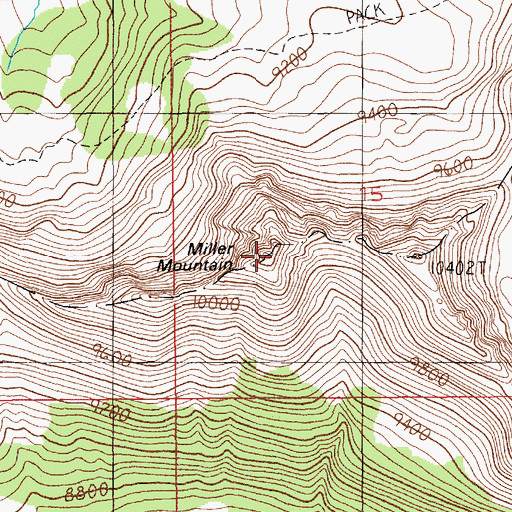 Topographic Map of Miller Mountain, MT