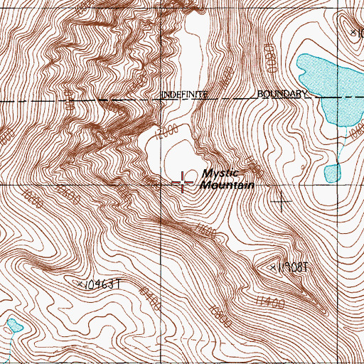 Topographic Map of Mystic Mountain, MT