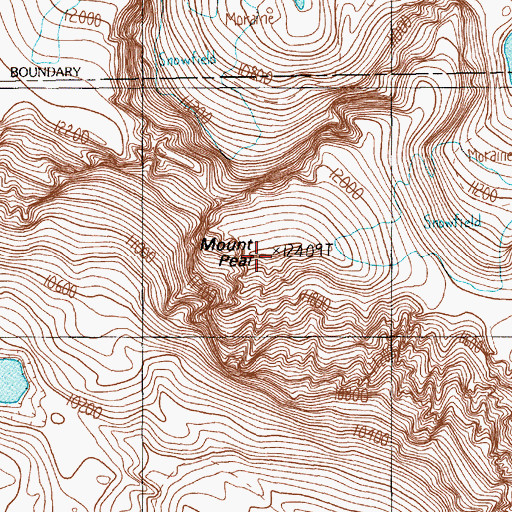 Topographic Map of Mount Peal, MT