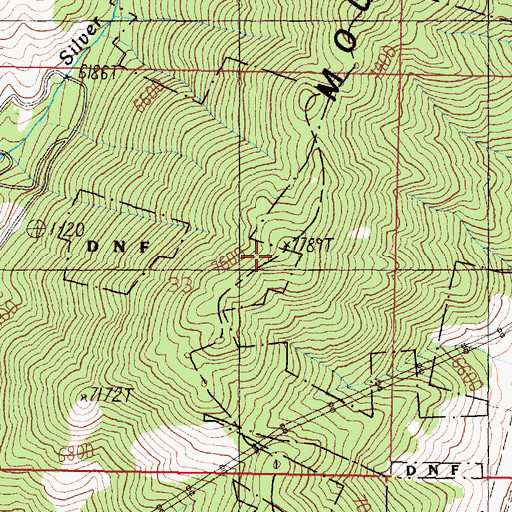 Topographic Map of Rampart Mountain, MT