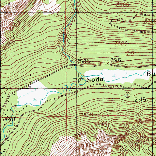 Topographic Map of Sheep Creek, MT