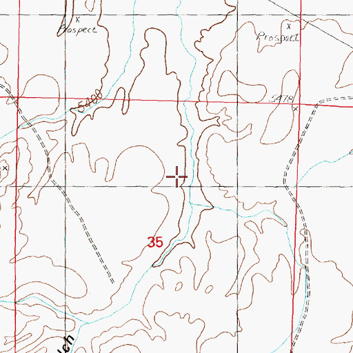 Topographic Map of Sheep Gulch, MT