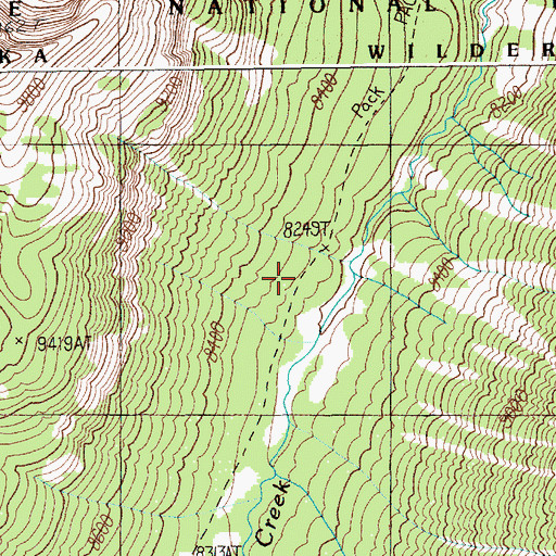 Topographic Map of Republic Trail, WY