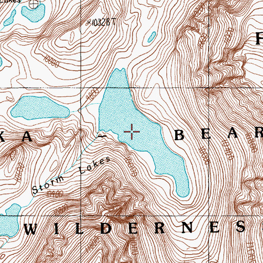 Topographic Map of Avalanche Lake, MT