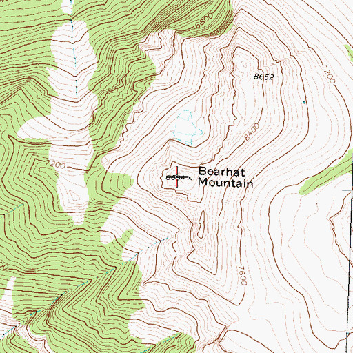 Topographic Map of Bearhat Mountain, MT