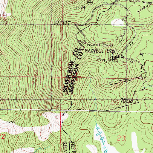 Topographic Map of SE SW Section 14 Mine, MT