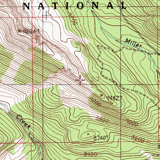 Topographic Map of Grace Lode Mine, MT