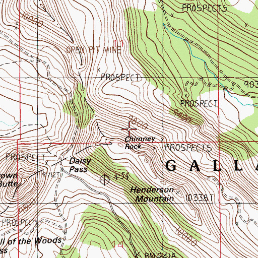 Topographic Map of Silver Queen Mine, MT