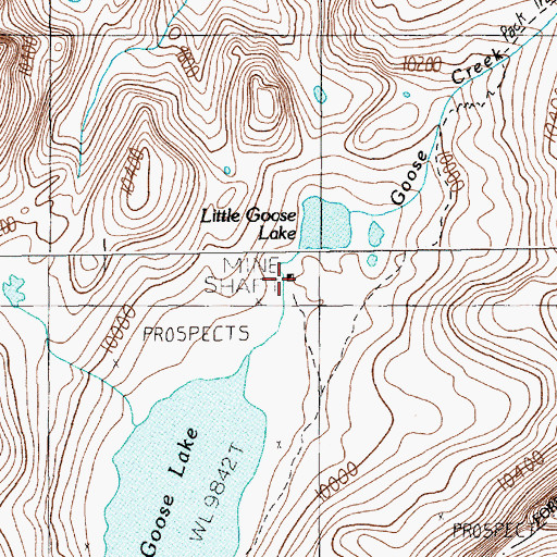 Topographic Map of Copper King Mine, MT