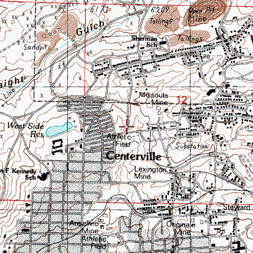 Topographic Map of Syndicate Pit, MT