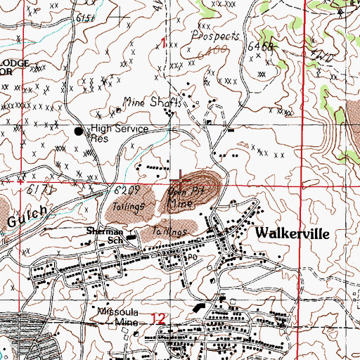 Topographic Map of Alice Pit, MT