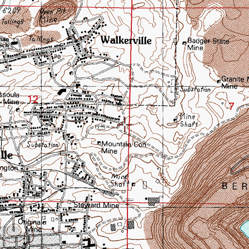 Topographic Map of East Gray Rock Mine, MT