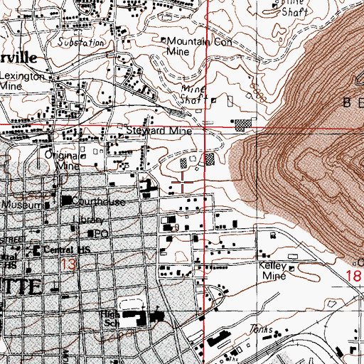 Topographic Map of Parrott Air Shaft, MT