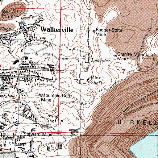 Topographic Map of Wild Bill Number 1 Mine, MT