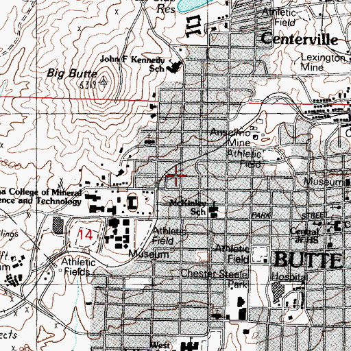 Topographic Map of Anselmo Air Shaft, MT