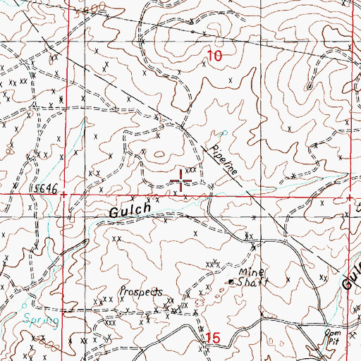 Topographic Map of Antonioli Mine, MT