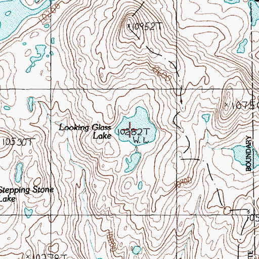 Topographic Map of Looking Glass Lake, MT