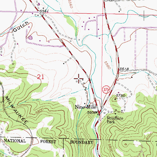 Topographic Map of 02N07W21DAB_02 Well, MT