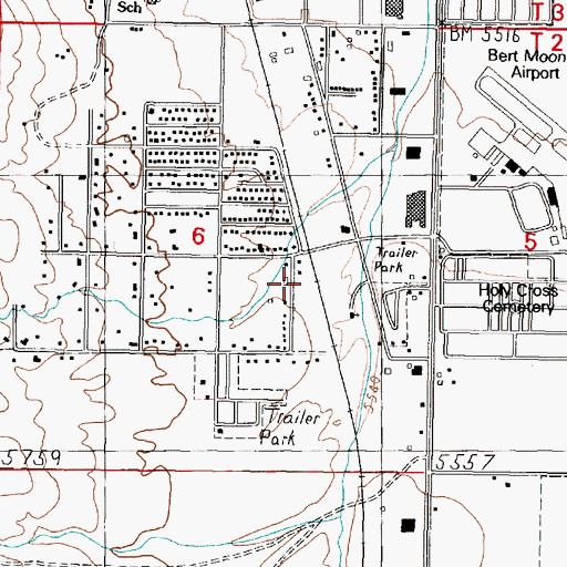 Topographic Map of 02N07W06DBA_03 Well, MT